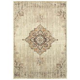 Oriental Weavers Pasha 072J2 Ivory and Brown